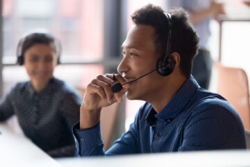 Happy Contact Center Agent
