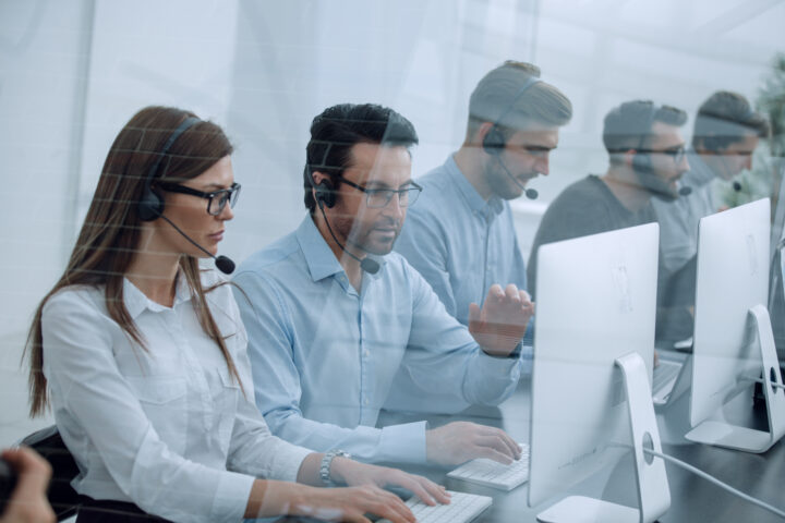 Contact center full of busy agents