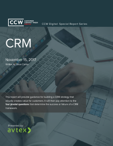 Crm special report fundamental strategy for a pivotal objective thumbnail