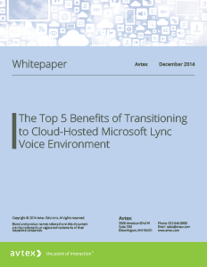 The top 5 benefits of transitioning to cloud hosted microsoft lync voice environment thumbnail