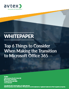 Top 6 things to consider when making the transition to microsoft office 365 thumbnail