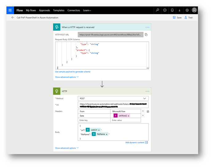 Screenshot: Azure Automation Account Flow