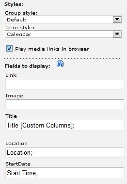 Screenshot: Calendar Style