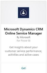 Screenshot: Microsoft Dynamics CRM Online Service Manager Content Pack