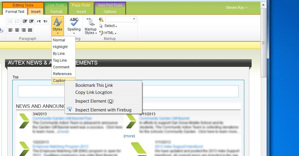 Screenshot: RTE Stylesheet-1