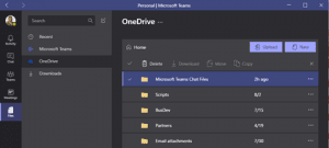 Screenshot: Teams OneDrive File Access Tab